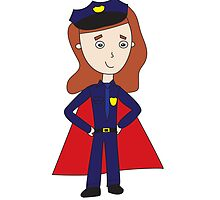 Police Officers Super Heroes (Female) by ValeriesGallery