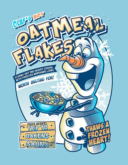 Olaf's Hot Oatmeal Flakes by Gilles Bone
