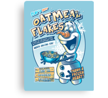 Olaf's Hot Oatmeal Flakes Canvas Print