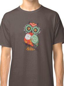 Colorful Cartoon Cute Floral Owl Classic T-Shirt