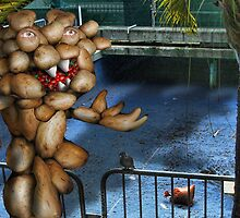 A Potato Head outside a Drained Pool by GolemAura