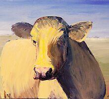 Portrait of a Cow by carolyndoe