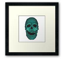 8BIT SKULL Framed Print