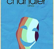 Friends Chandler Bing minimalist poster by hannahnicole420