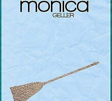 Friends Monica Geller minimalist poster by hannahnicole420