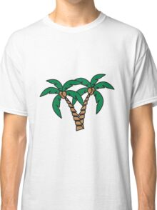 Palm tree coconut group Classic T-Shirt