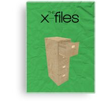The X-Files minimalist poster Canvas Print
