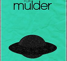 X-Files minimalist poster, Mulder by hannahnicole420