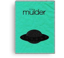 X-Files minimalist poster, Mulder Canvas Print