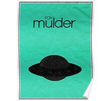 X-Files minimalist poster, Mulder Poster