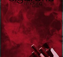 X-Files minimalist poster, Cigarette Smoking Man by hannahnicole420