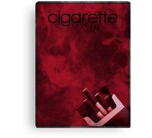 X-Files minimalist poster, Cigarette Smoking Man Canvas Print