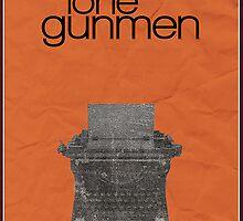 X-Files minimalist poster, Lone Gunmen by hannahnicole420