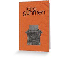 X-Files minimalist poster, Lone Gunmen Greeting Card