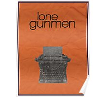 X-Files minimalist poster, Lone Gunmen Poster
