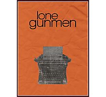 X-Files minimalist poster, Lone Gunmen Photographic Print