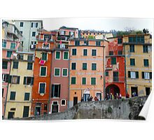 All About Italy. Piece 6 - Riomaggiore Houses Poster