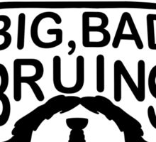 Big Bad Bruins Beard Sticker