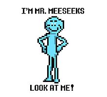 8 bit Mr. MeeSeeks Photographic Print