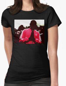 Shut Up design. Womens Fitted T-Shirt