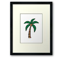 Palm tree coconut Framed Print