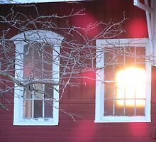 Train Station Sun Down by littlemarin