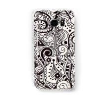 Black and White Swirls Samsung Galaxy Case/Skin