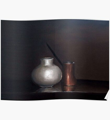 Pot and Copper Coffee Pot Poster