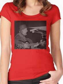 Les Claypool at T-West Women's Fitted Scoop T-Shirt