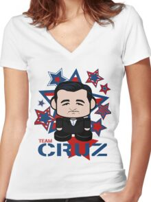 Team Cruz Politico'bot Toy Robot Women's Fitted V-Neck T-Shirt