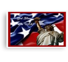 I Love the USA Card for July 4 Canvas Print