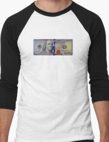 100 dollar bill Men's Baseball ¾ T-Shirt
