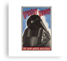 Great Power Train Canvas Print