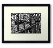 Aged and Beautiful Wrought Iron Fence Framed Print