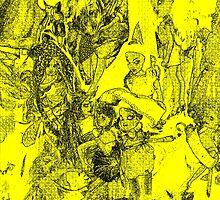 [68]DollsDrawingYellow by ptosis