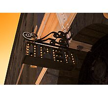 OPEN - Vintage Sign Photographic Print