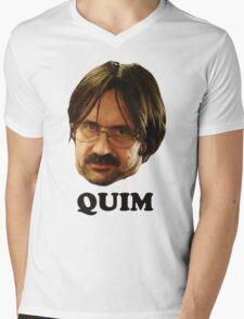 QUIM - Text Mens V-Neck T-Shirt