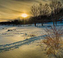Sunset at Lake Lackawanna by Edward Brezinski