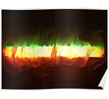 Flourescent Flames Poster
