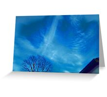 Air Brushed Trails in the Sky Greeting Card