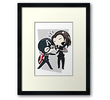 Captain America & The Winter Soldier Framed Print