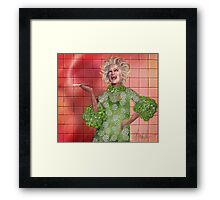 Ha!: Portrait of Phyllis Diller Framed Print