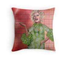 Ha!: Portrait of Phyllis Diller Throw Pillow