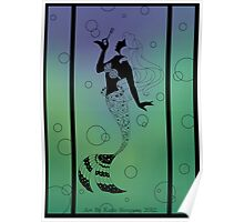 Silhouette Ariel Poster