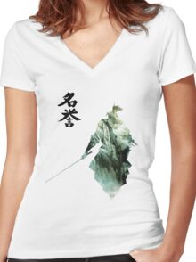 Way of the Samurai (1) Women's Fitted V-Neck T-Shirt