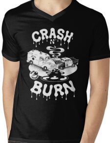 Crash & Burn Mens V-Neck T-Shirt