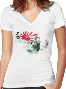Way of the Samurai (2) Women's Fitted V-Neck T-Shirt