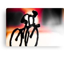 The Cycling Profile  Canvas Print
