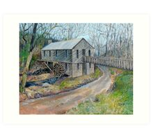 Historic Cohutta Springs Mill Art Print