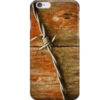 Barbed Wire on Wood iPhone Case/Skin